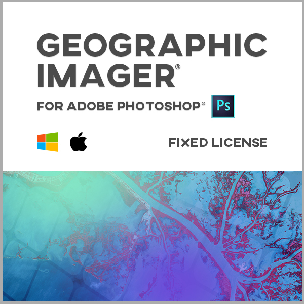 Geographic Imager pour Adobe Photoshop Mac ou Windows - licence monoposte