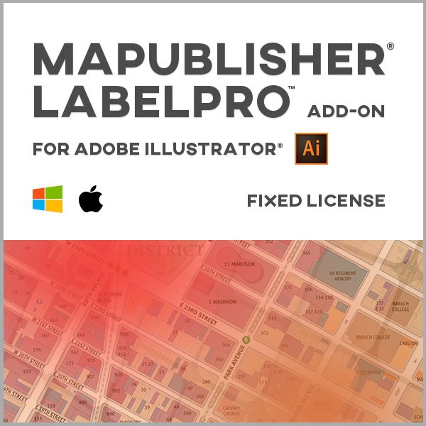 MAPublisher LabelPro pour Adobe Illustrator Mac ou Windows - licence monoposte