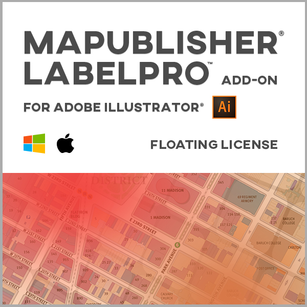 MAPublisher et MAPublisher LabelPro en bundle pour Adobe Illustrator - Mac ou Windows - licences monopostes