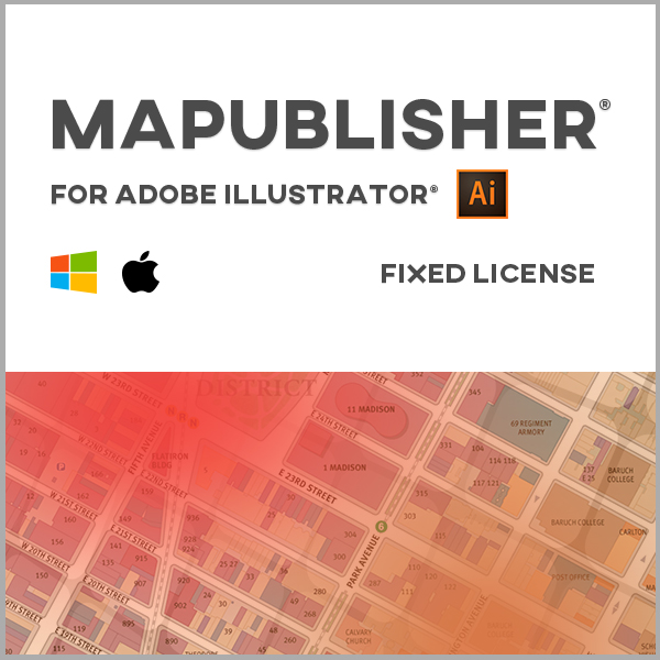 MAPublisher pour Adobe Illustrator Mac ou Windows - licence monoposte