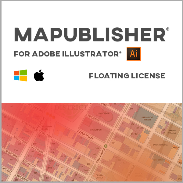MAPublisher pour Adobe Illustrator Mac ou Windows - licence réseau - renouvellement de maintenance annuelle