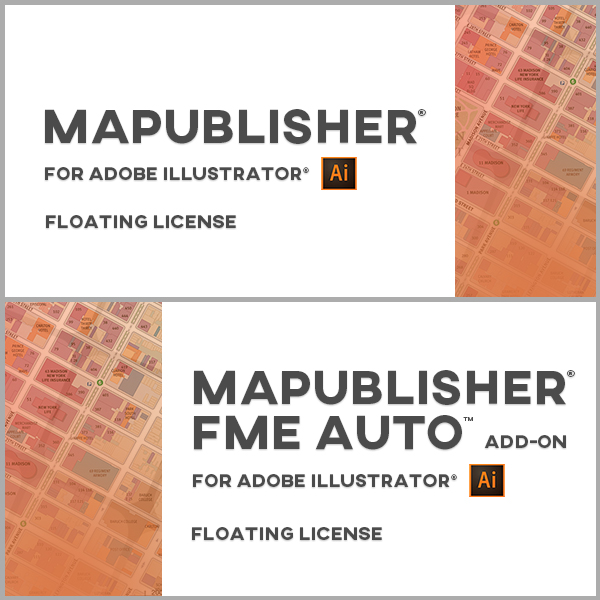 MAPublisher et MAPublisher FME Auto en bundle pour Adobe Illustrator Windows - licences monopostes