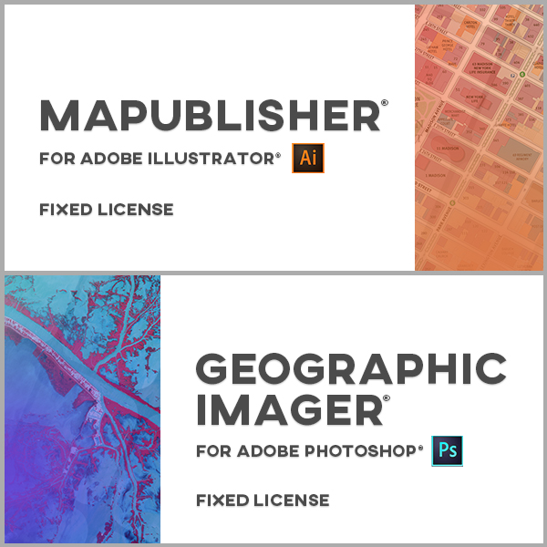 MAPublisher et Geographic Imager en bundle pour Adobe Illustrator et Photoshop - Mac ou Windows - licences monopostes