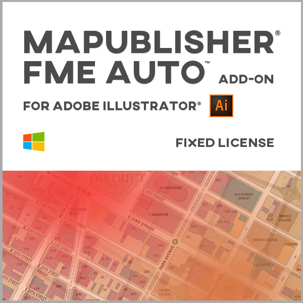 MAPublisher FME Auto pour Adobe Illustrator Windows - licence monoposte