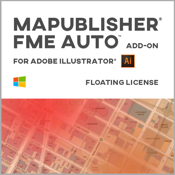 MAPublisher FME Auto pour Adobe Illustrator Windows - licence réseau